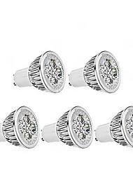 abordables -ZDM® 1pc 4 W 350 lm GU10 Spot LED 4 Perles LED LED Haute Puissance Intensité Réglable Blanc Chaud 220 V / 5 pièces / RoHs