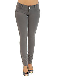 Women Solid Color Legging,Cotton Spandex