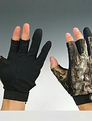 cheap -Short 3 Fingers Camouflage Fishing Hunting Anti Slip Gloves for XXL Size