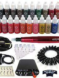 Solong Tattoo Kit  Rotary Tattoo Machine & Permanent Makeup Pen Needle Cartridges Ink  EK102-2