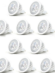 10pcs 3w mr16 led spotlight mr16 3 puissance élevée led 250lm blanc chaud blanc froid dc12v