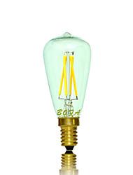 e14 levou bulbo globo tubo 4 cob 200-300lm quente branco 2200k 2700k dimmable decorativo ac 220-240 ac 110-130v