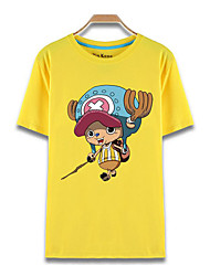 cheap -Inspired by One Piece Tony Tony Chopper Anime Cosplay Costumes Cosplay T-shirt Print Short Sleeves Top For Men's Women's