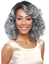 cheap -Synthetic Wig Wavy Bob Haircut Synthetic Hair Wig Women's