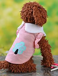 cheap -Dog Shirt / T-Shirt Dog Clothes Purple Yellow Blue Pink Terylene Costume For Pets Men's Women's Fashion