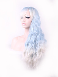cheap -candy colored light blue curly long length japanese style heat resistance cosplay wigs hot Halloween
