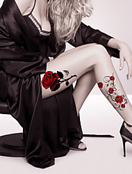 cheap -Fashion Large Temporary Tattoos Sexy Body Art Waterproof Tattoo Stickers Roses 2PCS