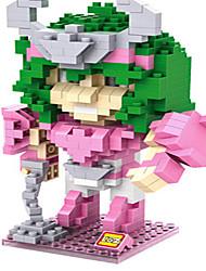 abordables -Pour cadeau Blocs de Construction Plastique Rose Blanc Vert Jouets