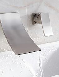 abordables -cascade lavabo robinet répandue design contemporain robinet (finition nickel)
