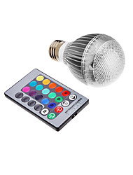 3W E26/E27 LED Globe Bulbs Integrate LED 500 lm RGB K Remote-Controlled AC 85-265 V 1set