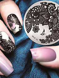 cheap -2016 latest version fashion pattern lace flower nail art stamping image template plates
