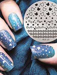 cheap -2016 Latest Version Fashion Pattern Star Nail Art Stamping Image Template Plates