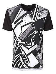 sete Brand® Masculino Decote Redondo Manga Curta Camisa Branco-702T548780