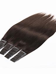 Недорогие -PANSY На ленте Расширения человеческих волос Прямой Натуральные волосы Бразильские волосы # 6