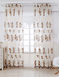 Two Panels Curtain Country Living Room Rayon Material Sheer Curtains Shades Home Decoration For Window