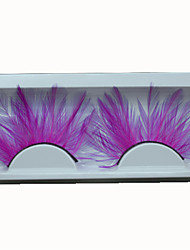 cheap -False Eyelashes Feather Lady Hot Pink Lashes Accessories Individual For Party