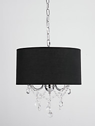 Max 60W Modern/Contemporary / Drum Crystal / Mini Style Chrome ChandeliersLiving Room / Bedroom / Dining Room / Study Room/Office /