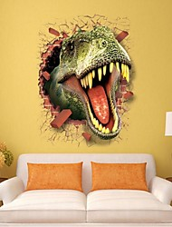 cheap -3D Dinosaur Wall Stickers Decals For Kids Rooms Art For Baby Nursery Room Christmas Gift Decoration Kids Cartoon Poster