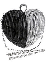 cheap -Women Bags Polyester Evening Bag Rhinestone for Wedding Event/Party Formal All Seasons Black Silver