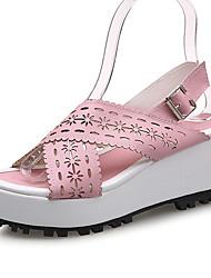 cheap -Women's Shoes Wedge Heel Wedges / Platform Sandals Dress / Casual Blue / Yellow / Pink / Orange
