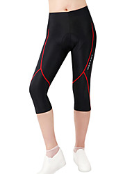 cheap -WOSAWE Women's / Unisex Cycling Padded Shorts Red black Bike Shorts / 3/4 Tights / Bottoms 3D Pad, Quick Dry, Anatomic Design Polyester,