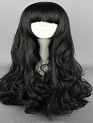 Недорогие -Парики из искусственных волос Свободные волны С чёлкой плотность Жен. Черный Карнавальный парик Парик для Хэллоуина парик Костюм Длинные