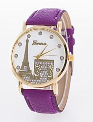 baratos -Mulheres Relógio de Pulso Venda imperdível PU Banda Amuleto / Casual / Fashion Preta / Branco / Vermelho / Um ano / Jinli 377