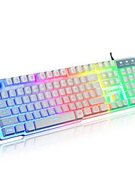 cheap -Rainbow Mechanical Touch Wired USB Waterproof Laptop Desktop Pro illuminated Computer Keyboards