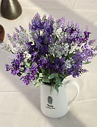 Недорогие -десять голов шелка лаванды искусственные цветы многоцветной дополнительно 1 шт / комплект