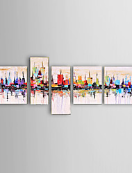 cheap -Oil Painting Hand Painted - Abstract Landscape Still Life Fantasy Modern Five Panels