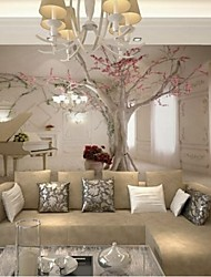 Living Room Modern 3D Shinny Leather Effect Large Mural Wallpaper Piano And Tree Art Wall Decor