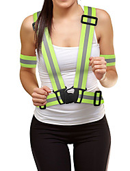 cheap -Reflective Vest Reflective Running Vest Reflective Band Adjustable Elasticity Reflective Strips for Running