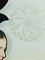 abordables -metálica mujeres de papel de oro / plata para tatuaje pegatinas de pelo
