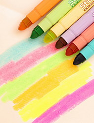 cheap -Markers & Highlighters Pen Highlighters Pen, Plastic Red Blue Yellow Purple Orange Green Ink Colors For School Supplies Office Supplies