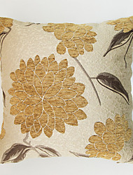 cheap -1 pcs Chenille Polyester Pillow Cover, Floral Traditional