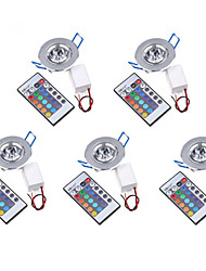 cheap -LED Ceiling Lights Recessed Retrofit High Power LED 200-250 lm RGB K Decorative Remote-Controlled AC 85-265 V