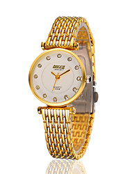 cheap -Women's Fashion Watch Water Resistant / Water Proof Stainless Steel Band Silver / Gold
