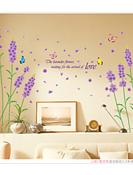 Недорогие -ботанический / Романтика / Цветы / Пейзаж Наклейки Простые наклейки,pvc 50*70cm
