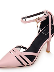 cheap -Women's Shoes Stiletto Heel/D'Orsay & Two-Piece/Pointed Toe Heels Office & Career/Dress Black/Pink/Beige