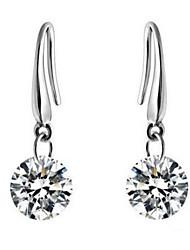 cheap -Drop Earrings Zircon Cubic Zirconia Alloy Silver Jewelry Daily Casual