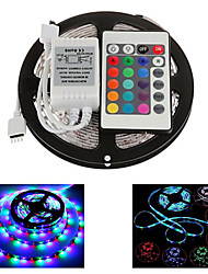 Z®ZDM 5M 300X2835 Waterproof SMD RGB  LED Strip Light  IP65 with 24Key Remote Controller (DC12V)