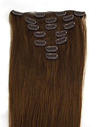cheap -Clip In Human Hair Extensions Human Hair Straight 18 inch 20 inch 22 inch 24 inch 15