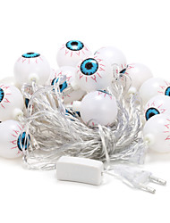 5m 20-LED Outdoor Christmas Holiday Decoration Eyeball Shape Warm White Light LED String Light (220V)