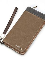 Brand Long Handbag Artificial Leather Purse Men's Bag Carteira Men Fashion Clutch Leather Suedu Men Wallets Black