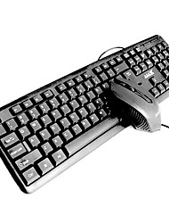 usb wireled teclado mouse pad escritório e 3 peças de um kit