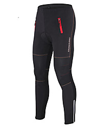 cheap -GETMOVING Unisex Cycling Pants Bike Pants / Trousers / Tights / Bottoms Windproof, Thermal / Warm, Anatomic Design Solid Colored Fleece Bike Wear / Breathable / Stretchy / Waterproof / Fleece Lining