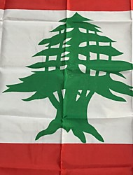 cheap -3X5 Feet Lebanon Flag 90 * 150Cm World Flags Events Party Festival Parade Lift Home Furnishings