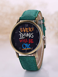 Masculino Relógio de Pulso Quartzo Relógio Casual Tecido Banda Preta Branco Preto Amarelo Vermelho Verde Azul