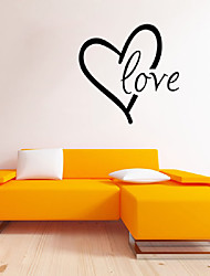 cheap -Words & Quotes Love Wall Decals Romance / Shapes Wall Stickers Plane Wall Stickers,vinyl 43*43cm