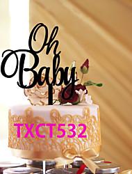 Недорогие -Украшения для торта Классика Классическая пара Акрил Свадьба с 1pcs Пенополиуретан